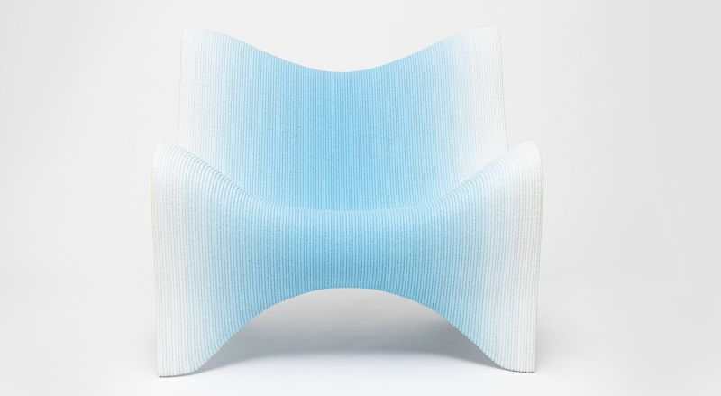 The 3D Printed Gradient Furniture Collection is Vienna-based designer Philipp Aduatz's latest project developed in collaboration with Austrian manufacturer incremental3d