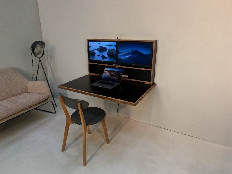 Pith & Stem Comes Up with DropTop Wall-Mounted Drop-Down Desk