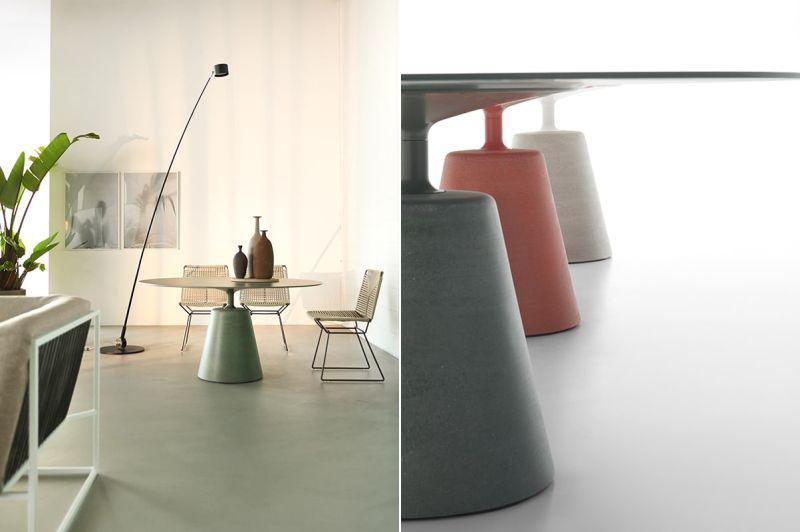 Rock Table by MDF Italia Combines Innovative Materials Harmoniously