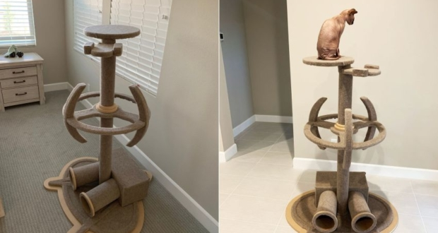This Star Trek-Themed Cat Tower is Purrfectly Geeky