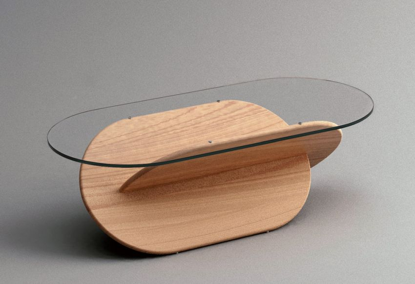 This Beautiful Coffee Table Features X-Shaped Base
