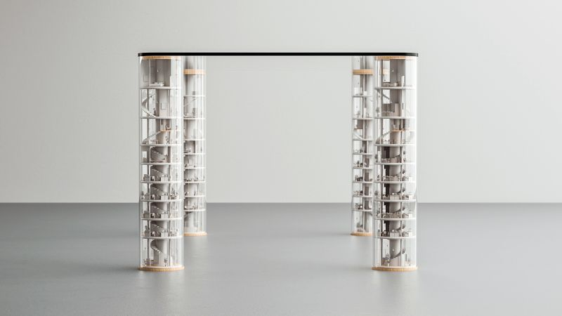 Tokyo Sky Dining Table by Stelios Mousarris