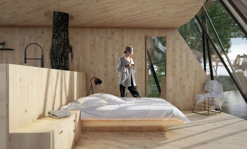 VBo Conceives Treehouse with Unique Foiling Façade