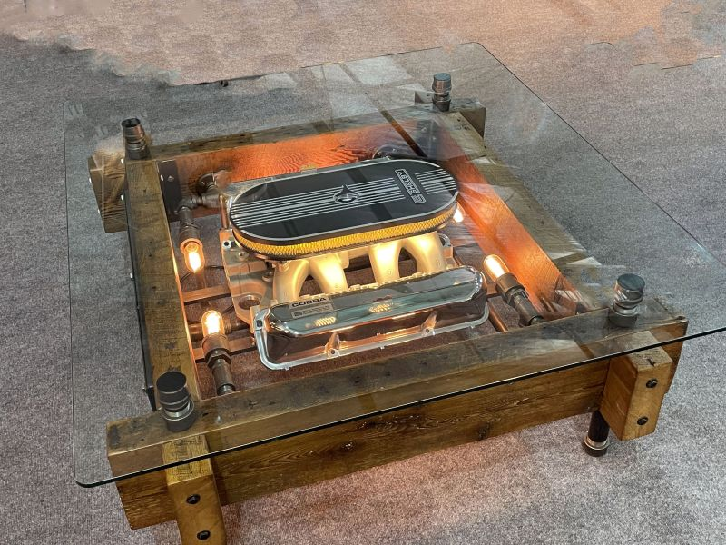 Carroll Shelby Coffee Table by Machine Age Lamps