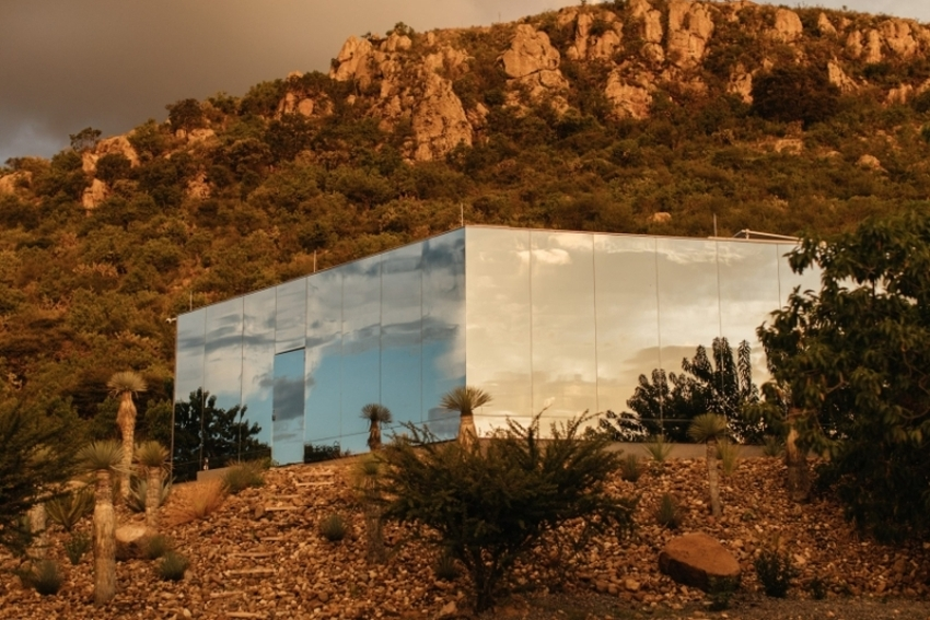 Casa Etérea Off-Grid Glass House Blends Into the Slopes of an Extinct Volcano