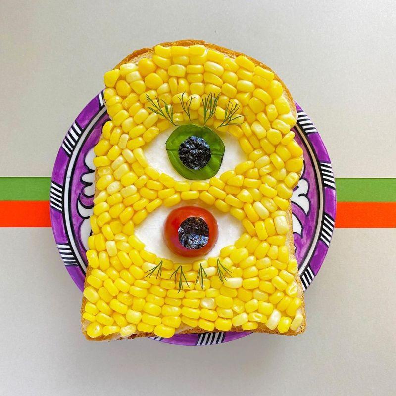 Japanese Food Artist Creates Amazing Toast Art with Edible Designs
