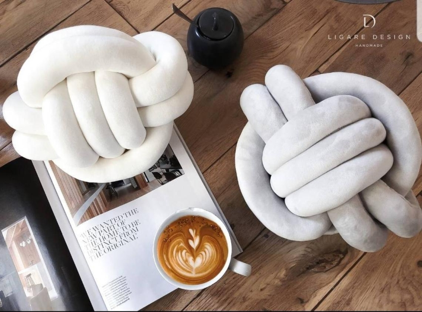 These Stylish Handmade Knot Pillows Will Bring out Your Inner Child