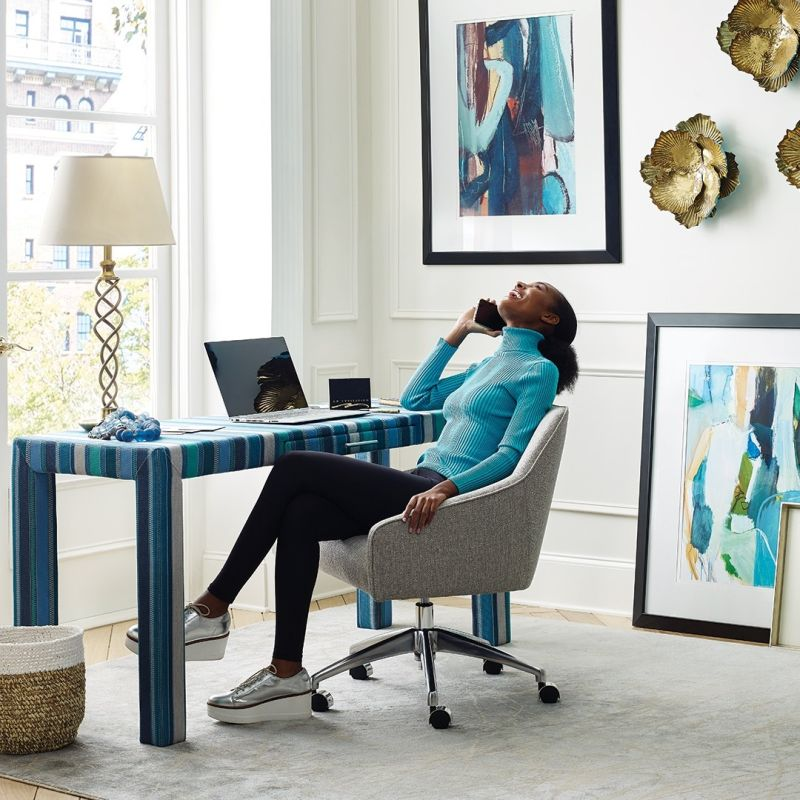Label 180's Customizable Upholstered Desks are Cheerful and Unique