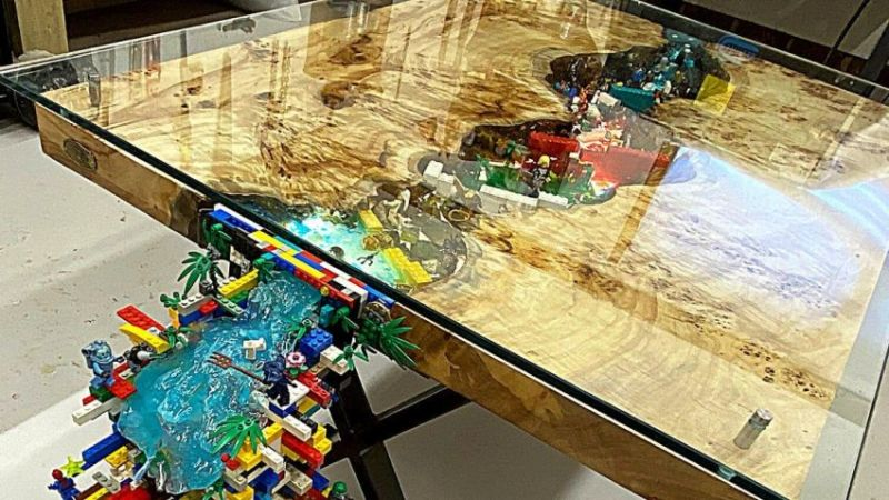 Nick Zammeti Creates Flowing Waterfall LEGO River Table