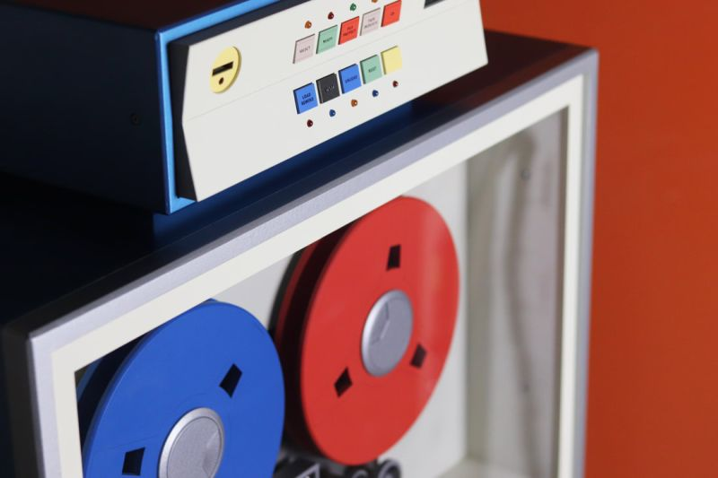 Love Hulten Creates Cabinet that Replicates Old-Time Magnetic Tape Units