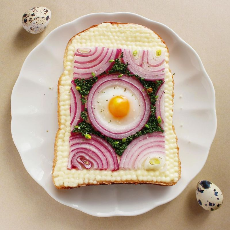 Japanese food artist and designer Manami Sasaki loves art and this is clearly visible in her amazing toast creations that she has created during the pandemic peri