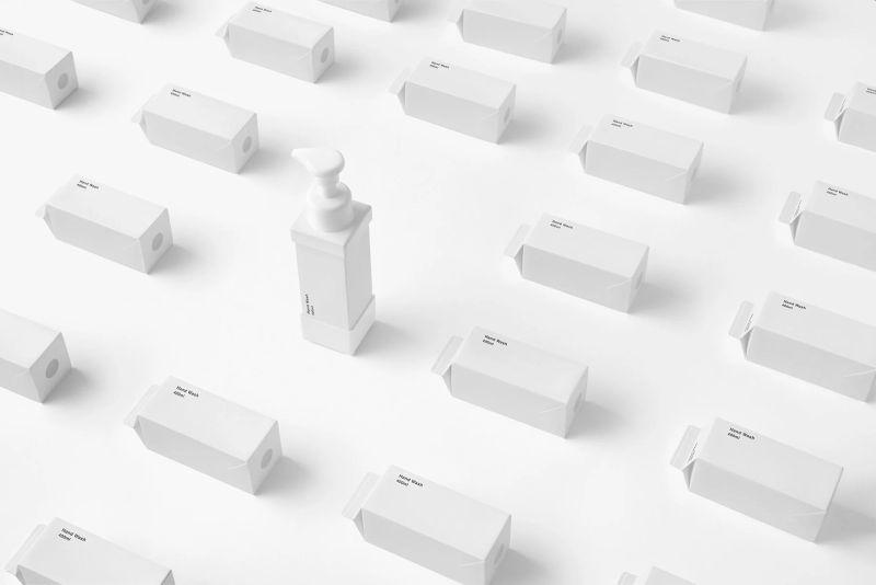 Nendo paper carton soap dispenser