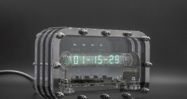 Nixie VFD Tube Clock with Retro-Modern Charm is perfect for Sci-Fi Admirers