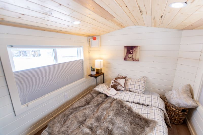 The Phoenix by Teacup Tiny Homes Features Overhanging Loft Bedroom