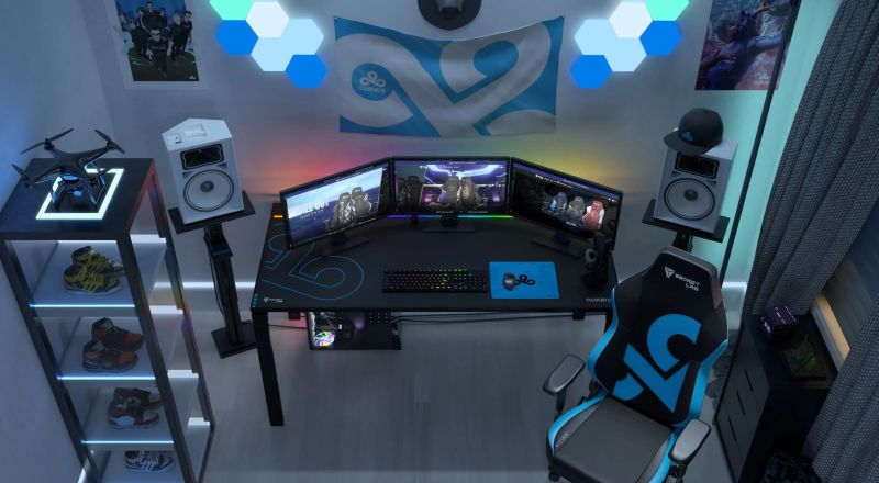 Secretlab MAGNUS Metal Desk Uses Magnetic Accessories for Cable Management
