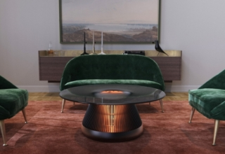 Industrial Craft's The Hearth is a Electric Fireplace Disguised as Coffee Table