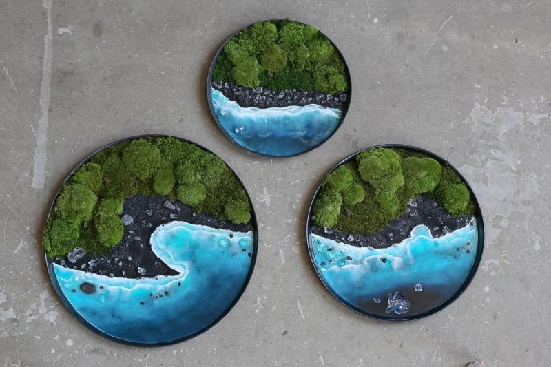 Moss Wall Art by Anna Paschenko are Perfect for Nature Lovers