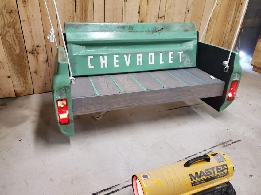 This Automobile Themed Bench Swing is Perfect for Crazy Car Guys