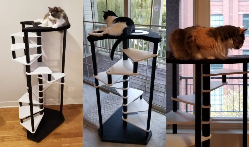 This Stepped Cat Tower Will Help You Encourage Your Feline for Exercise
