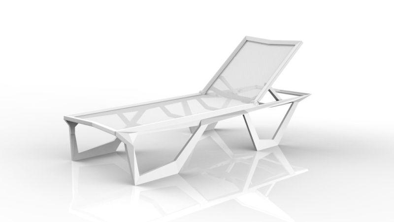 Voxel Sun Lounger by Karim Rashid Boasts Unique, Angular Form