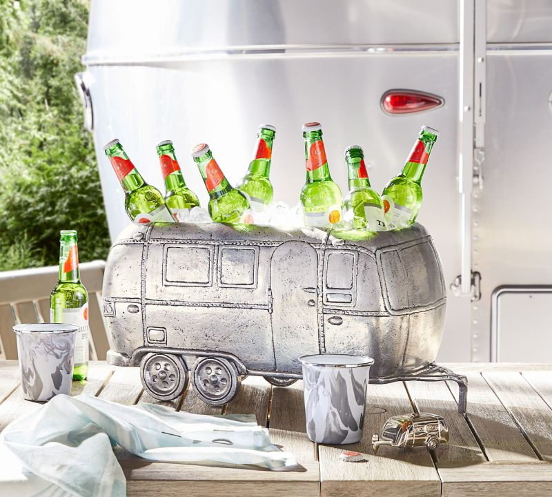 Airstream and Pottery Barn Launch New Collection for Travel Trailers