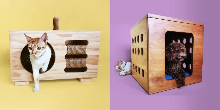 Genggo Pets Offers Beautiful Pet Furniture that Looks Like Rustic Furniture