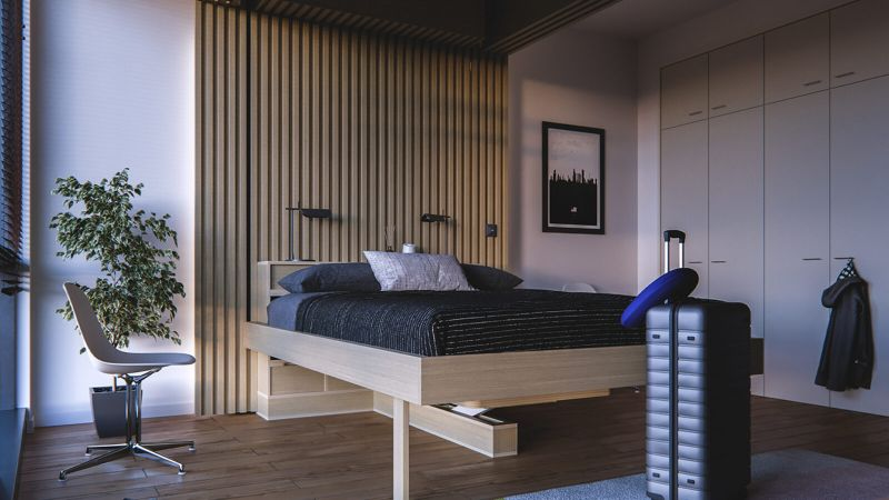 Ori's Cloud Bed Table Edition Transforms Bedroom Into Workplace Within Seconds