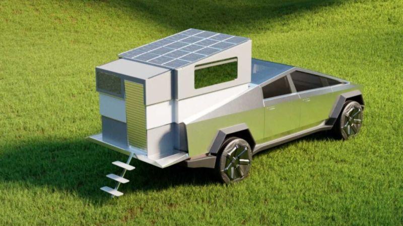 Stream It's CyberLandr Transforms Tesla's Cybertruck Into Tiny House