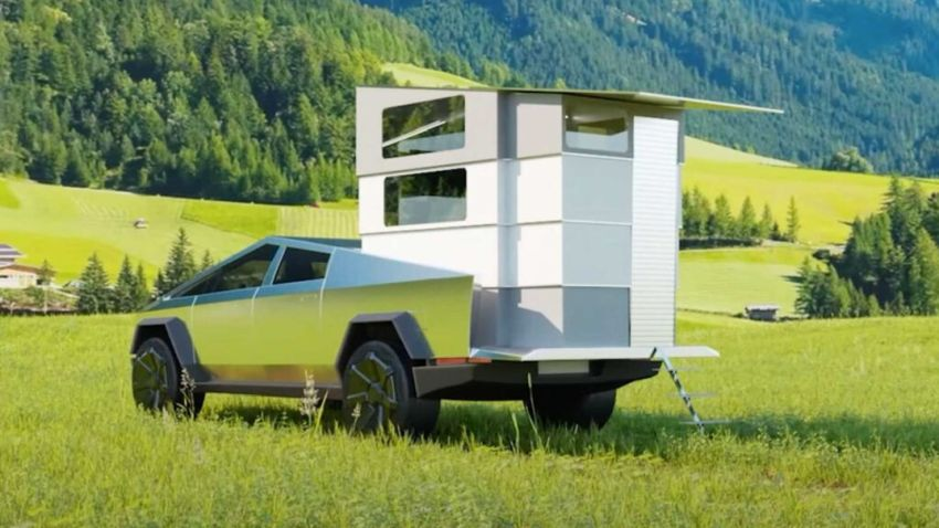 Stream It's CyberLandr Transforms Tesla's Cybertruck Into Tiny House