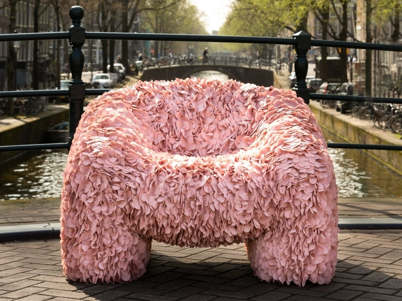 Moooi's Hortensia Armchair Feels and Looks Like Natural Blossoming Hortensia