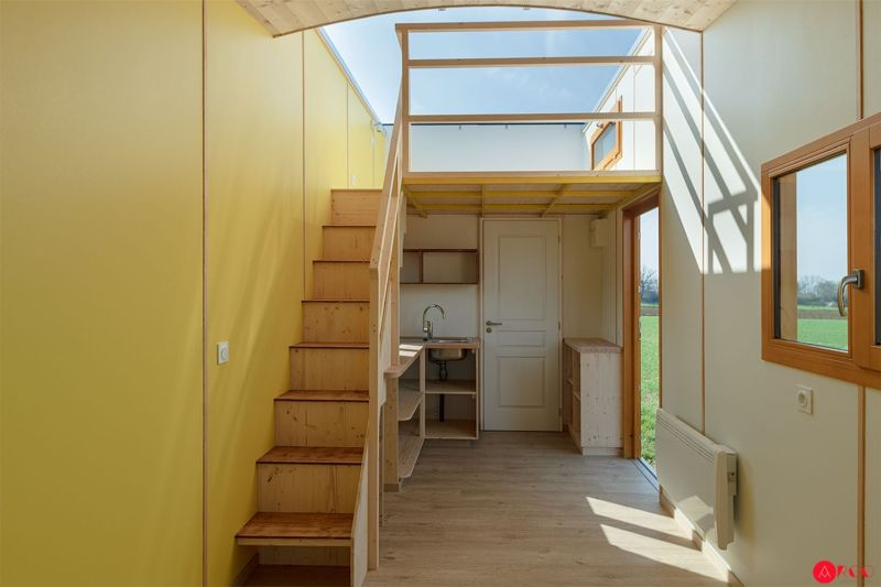Optinid Builds Tiny house with Sliding Roof as Tourist Accommodation
