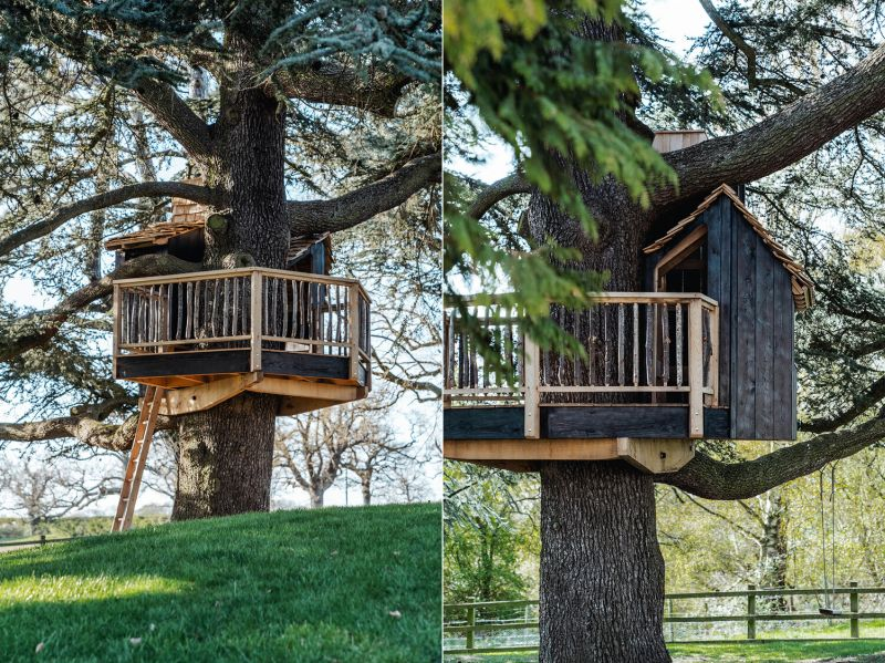 Sebastian Cox Builds one-of-a-kind Children's Play Treehouse
