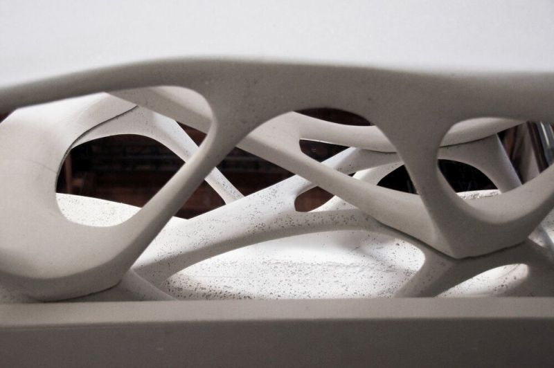 Slicelab Creates Concrete Table Using 3D Printing Technology