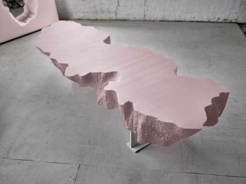 Snarkitecture and Gufram Expand their Broken Series in Pink Shade