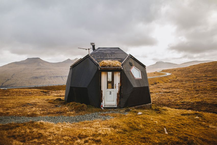 These Dome Homes in Kvivik, Denmark Looks Like Hobbit Cottages