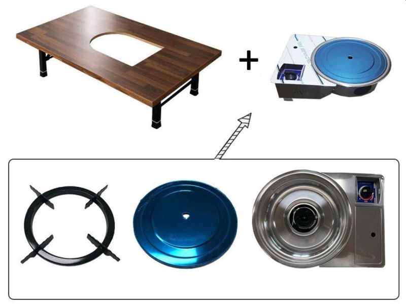 This Creative Table has Onboard Grill to Enjoy BBQ Indoors