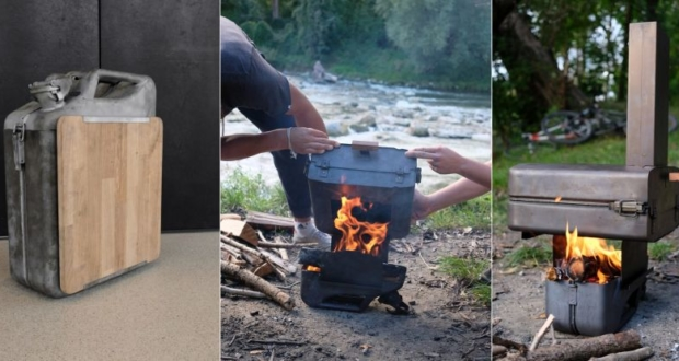 This DIY Wood-Fired Pizza Oven is made from Petrol Can