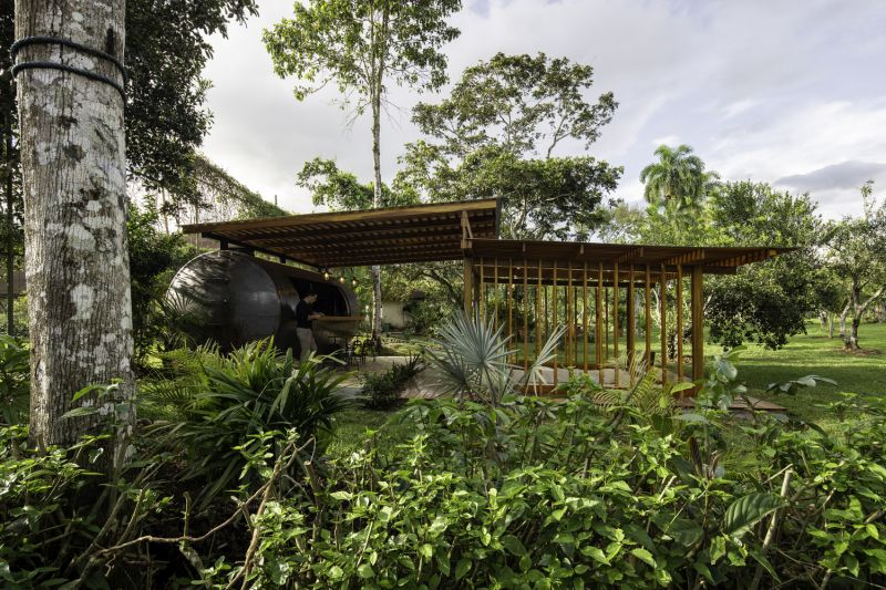This Outdoor Pavilion Repurposes Unused Water Reservoir Tank