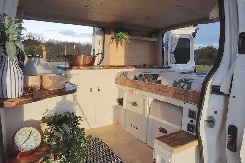 UK Couple Transforms Van into Tiny Home on Wheels