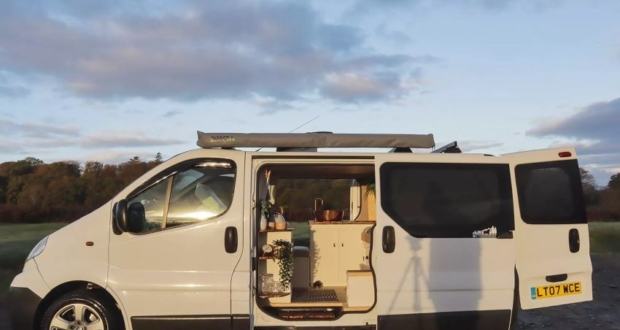 UK Couple Transforms Van into Tiny Home on Wheels