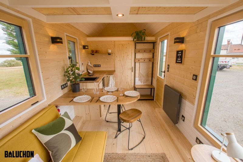 Baluchon Builds Tiny House Salamander for Natural Park of Combe Rossignol