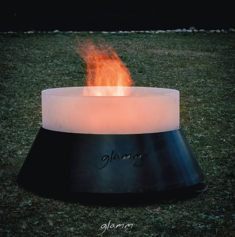 GlammFire Launches Alba Quartz Glass Fire Pit Collection