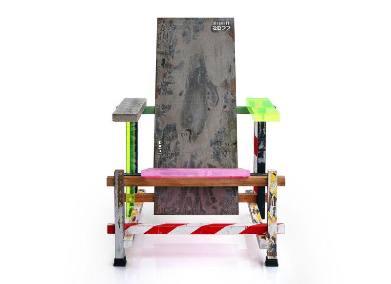 HAROW Recreates Gerrit Rietveld's Popular Chair to Highlight Global Warming