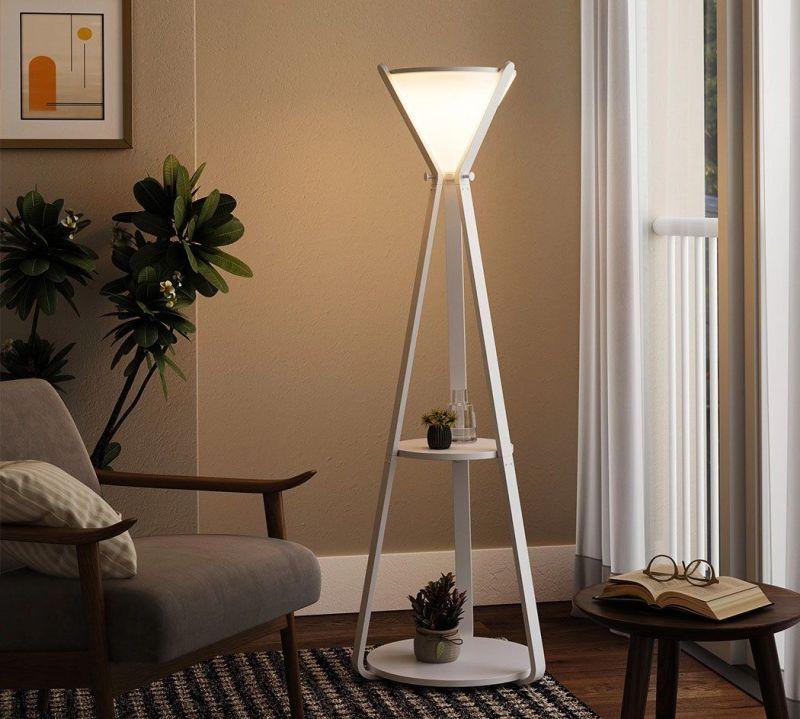 Hourglass Shelf by Ren Yu Serves as Coat Rack and Lamp