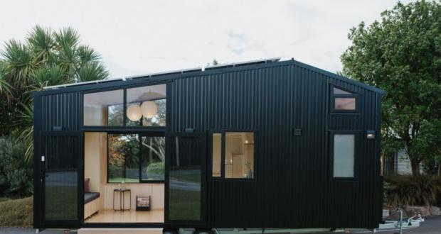 Ohariu is a Minimalist, Net-Zero Tiny House on Wheels