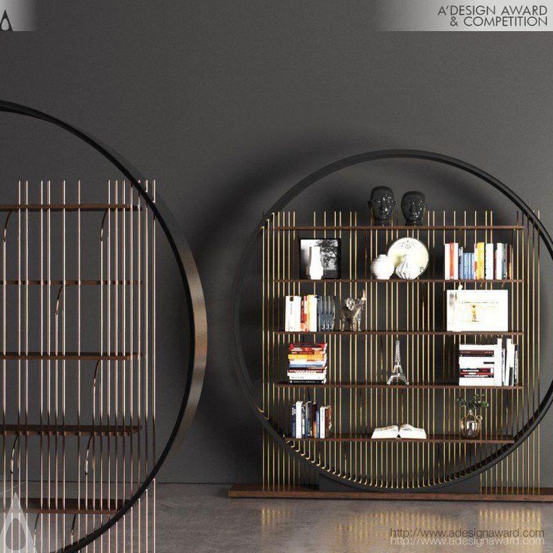 Ring Bookshelf by Kawn Designs Follows Da Vinci's Golden Ratio