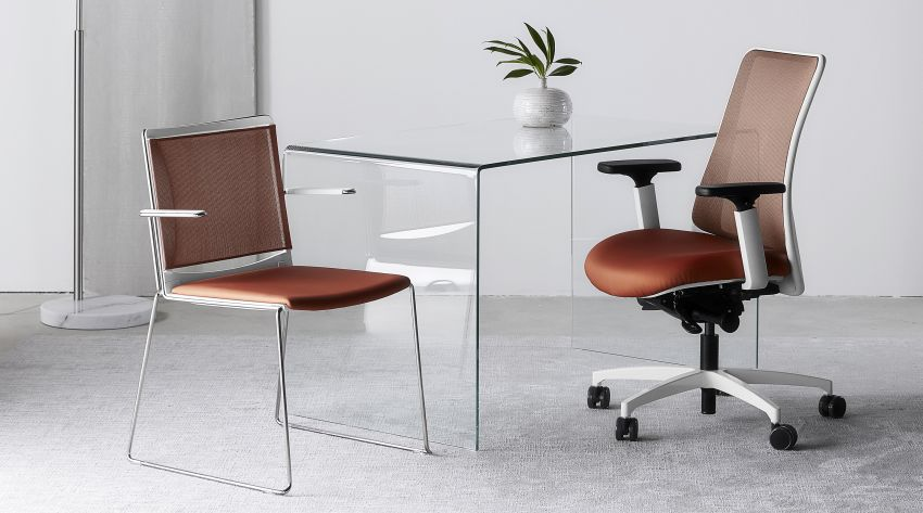 Via Seating Launches its Copper Mesh Back chairs