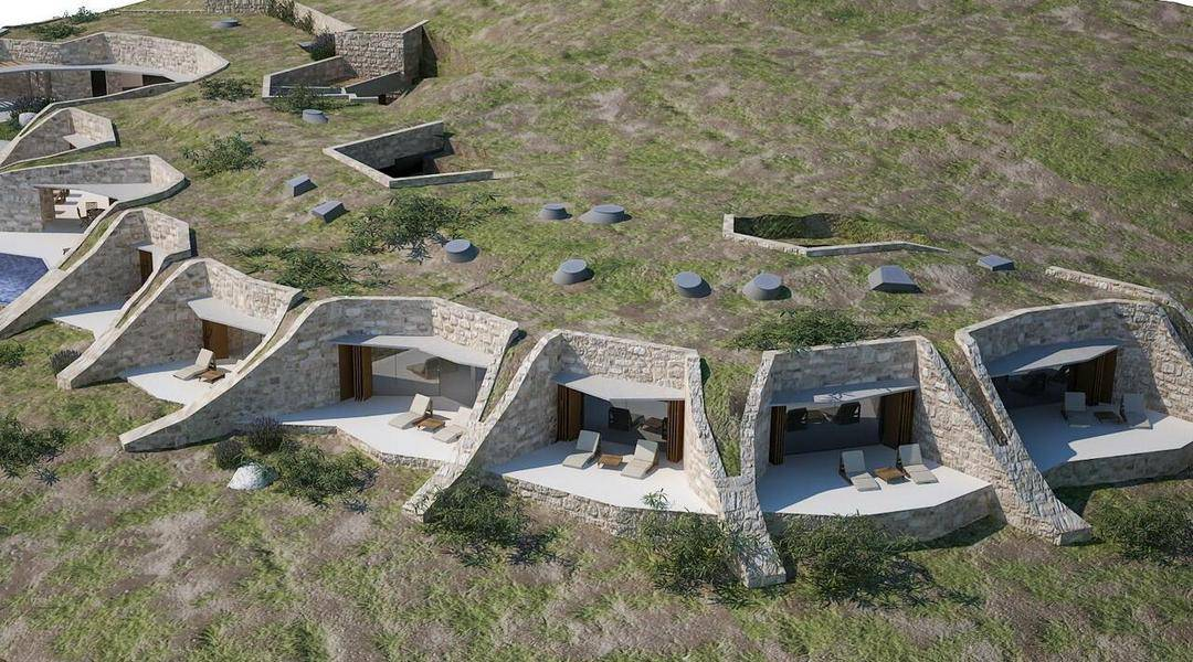 Villa Nai 3 Features Green Roof to Blend into its Landscape