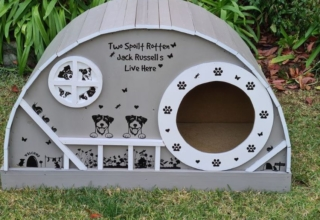 DIYer Woman Builds Hobbit Style Dog House for Her Pups