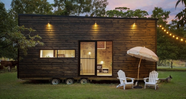 High EnHigh end Tiny House With Timber Exterior1d Tiny House With Timber Exterior is up For Grabs